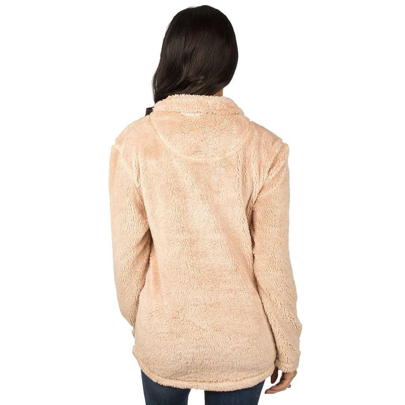 South Carolina Linden Sherpa Pullover in Sand by Lauren James - FINAL SALE