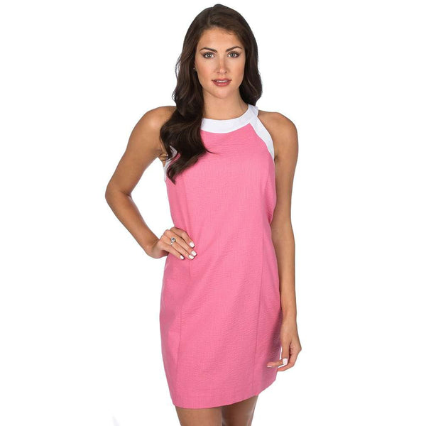 Lauren James The Arden Seersucker Dress in Rose