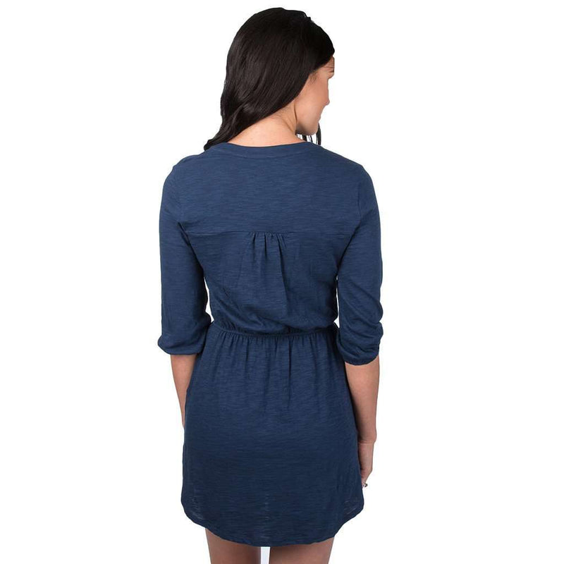 Virginia Slub Dress in Navy by Lauren James - FINAL SALE
