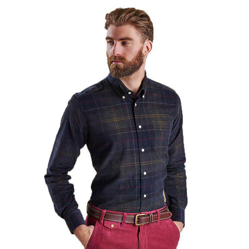 Lawerence Tailored Fit Button Down in Classic Tartan by Barbour  - 2