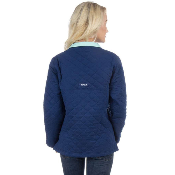 The Lawson Quilted Pullover in Estate Blue by Lauren James - FINAL SALE