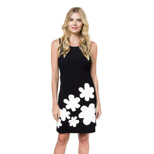 Leah Daisy Dress in Botanical Black by Julie Brown