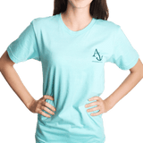 Nautical Flag Tee Shirt in Light Aqua by Anchored Style  - 3