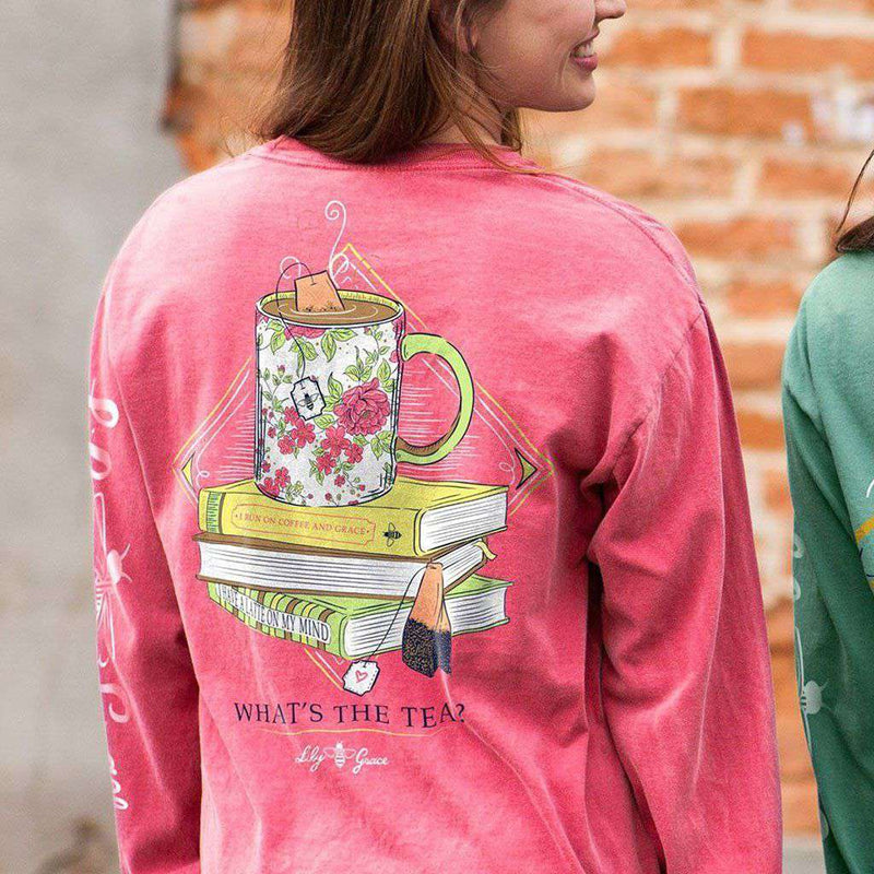 Drop It Like It's Hot Long Sleeve Tee in Crunchberry by Lily Grace