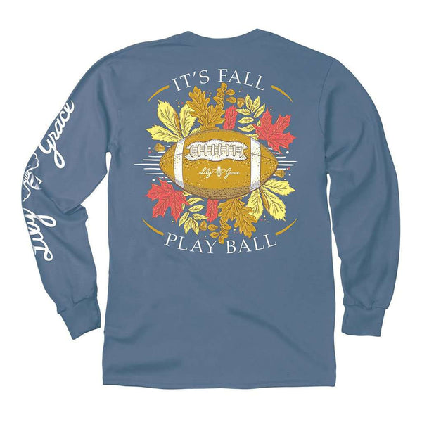 Lily Grace Fall Play Ball Long Sleeve Tee in Marine