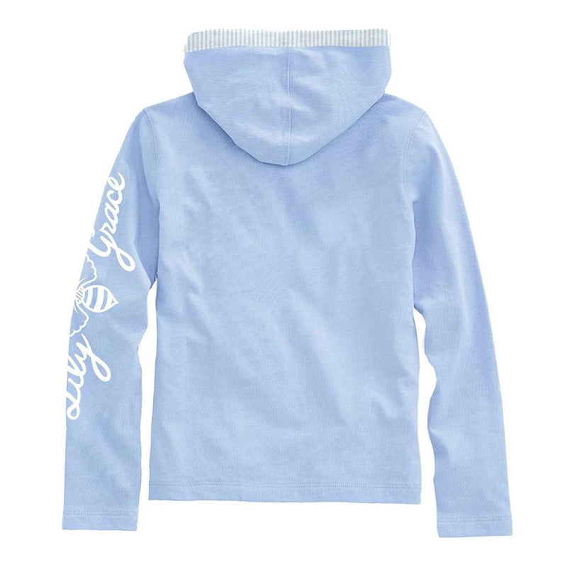 Junior Hoodie Tee in Chambray by Lily Grace