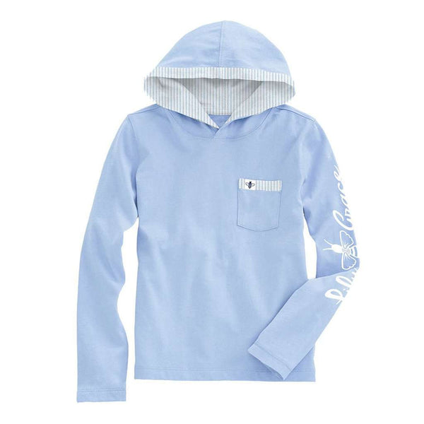 Lily Grace Junior Hoodie Tee in Chambray
