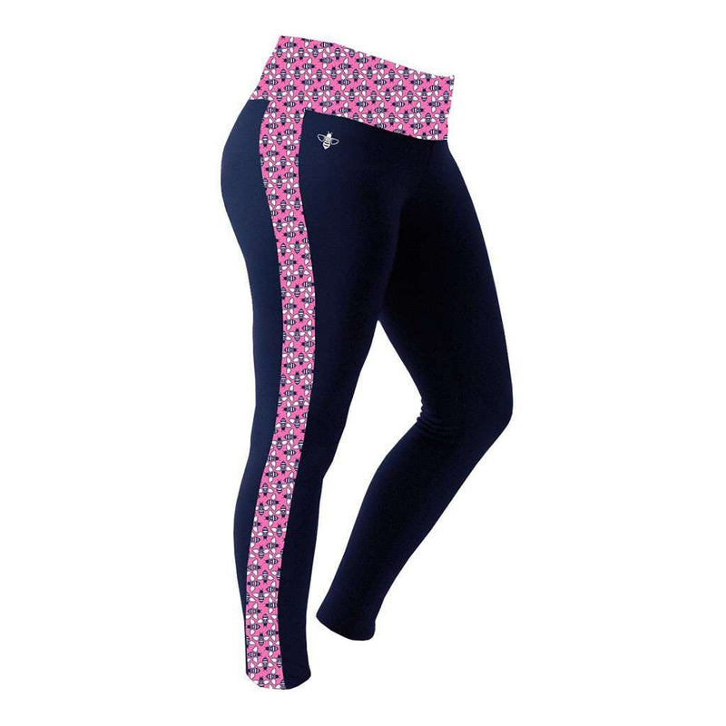 Lily Grace Logo Bee Leggings in Pink