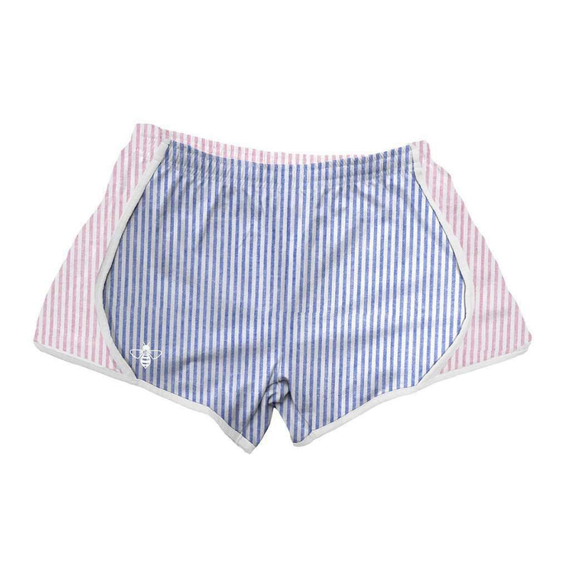 Lily Grace Navy and Pink Seersucker Shorts