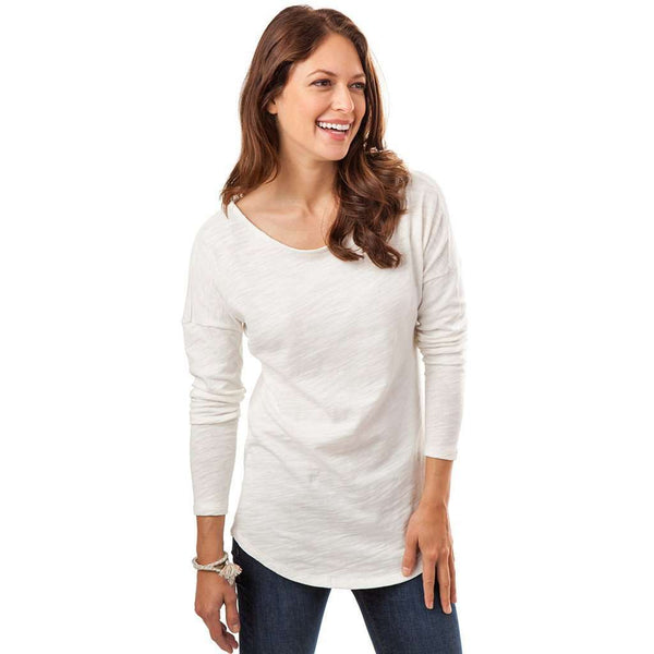 Lindsey Long Sleeve Tee in Marshmallow by Southern Tide  - 1