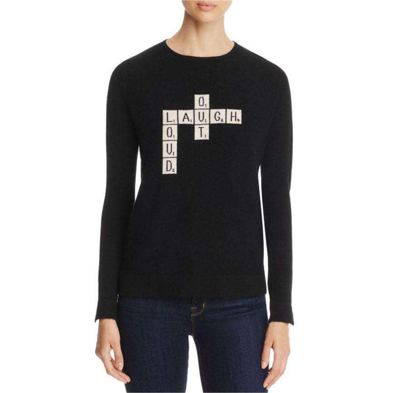 Lisa Todd Laugh Out Loud Cashmere Sweater in Onyx by Lisa Todd