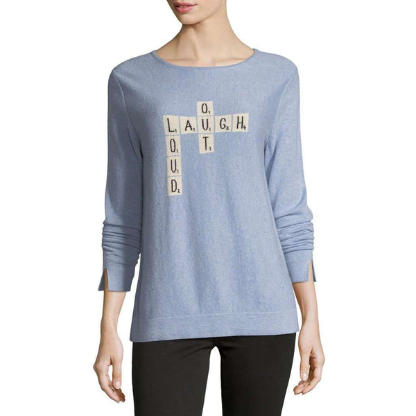 Laugh Out Loud Cashmere Sweater in Opal by Lisa Todd - FINAL SALE
