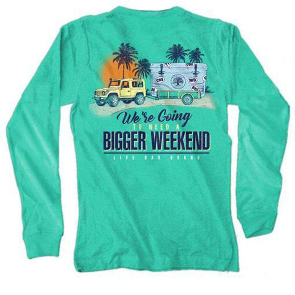 Live Oak Bigger Weekend Long Sleeve Tee in Chalky Mint
