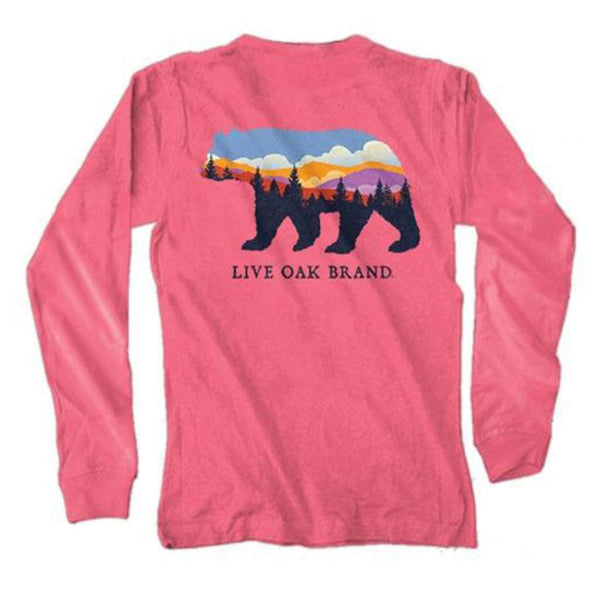 Live Oak Landscape Bear Long Sleeve Tee in Crunchberry