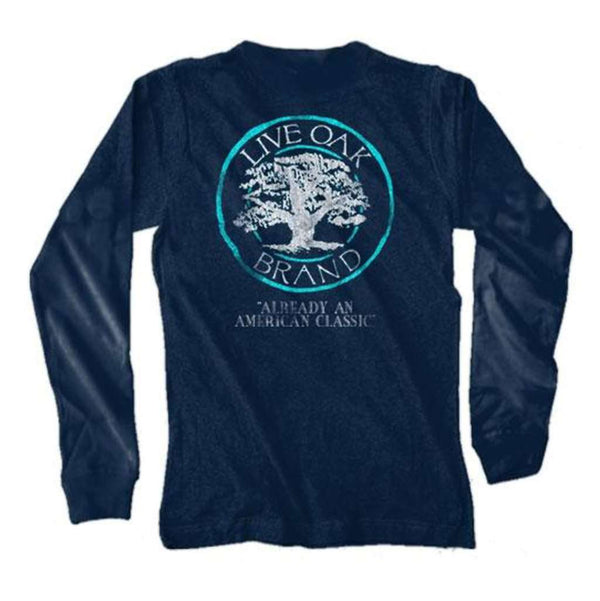Live Oak Logo Long Sleeve Tee in Midnight