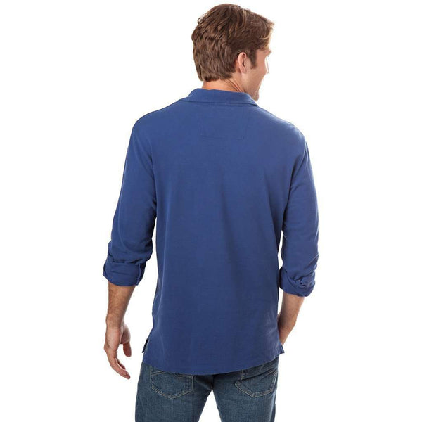 Long Sleeve Beachside Polo in Blue Night by Southern Tide  - 2