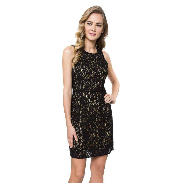 Julie Brown Lori Dress in Black Buckingham Lace by Julie Brown