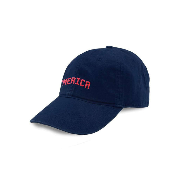 Merica Needlepoint Hat in Navy by Smathers & Branson