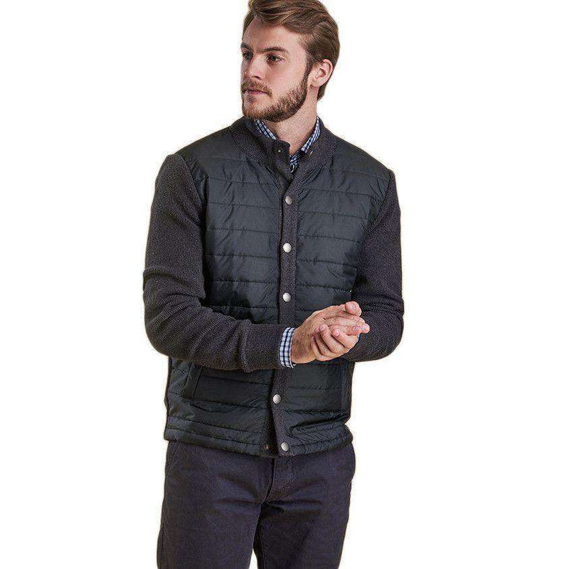 Bale Baffle Button Through Jacket in Charcoal by Barbour  - 3