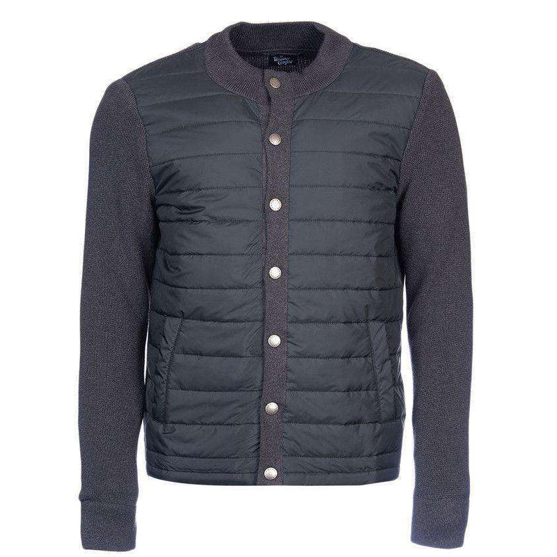 Bale Baffle Button Through Jacket in Charcoal by Barbour  - 1