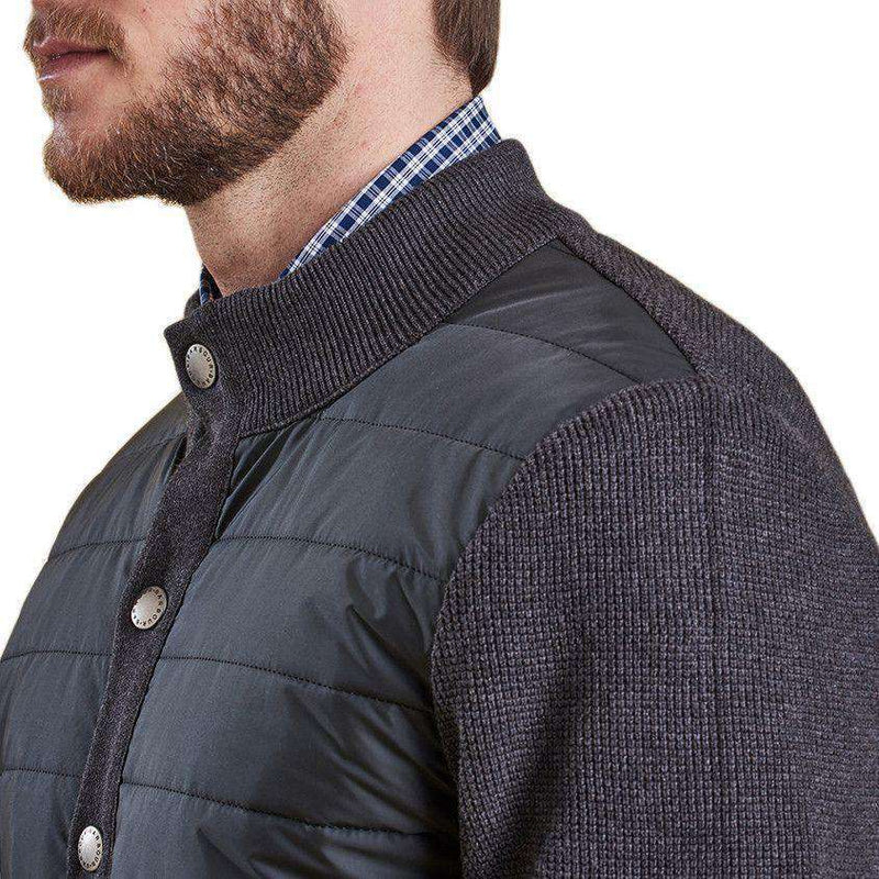 Bale Baffle Button Through Jacket in Charcoal by Barbour  - 6