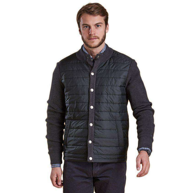 Bale Baffle Button Through Jacket in Charcoal by Barbour  - 2