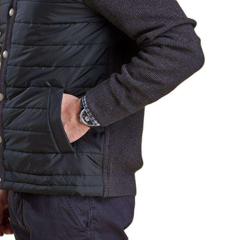 Bale Baffle Button Through Jacket in Charcoal by Barbour  - 5