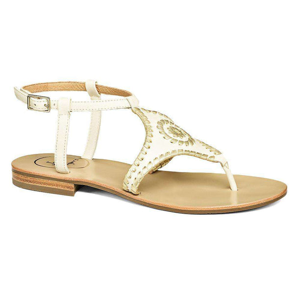 Maci Sandal in Bone and Gold by Jack Rogers