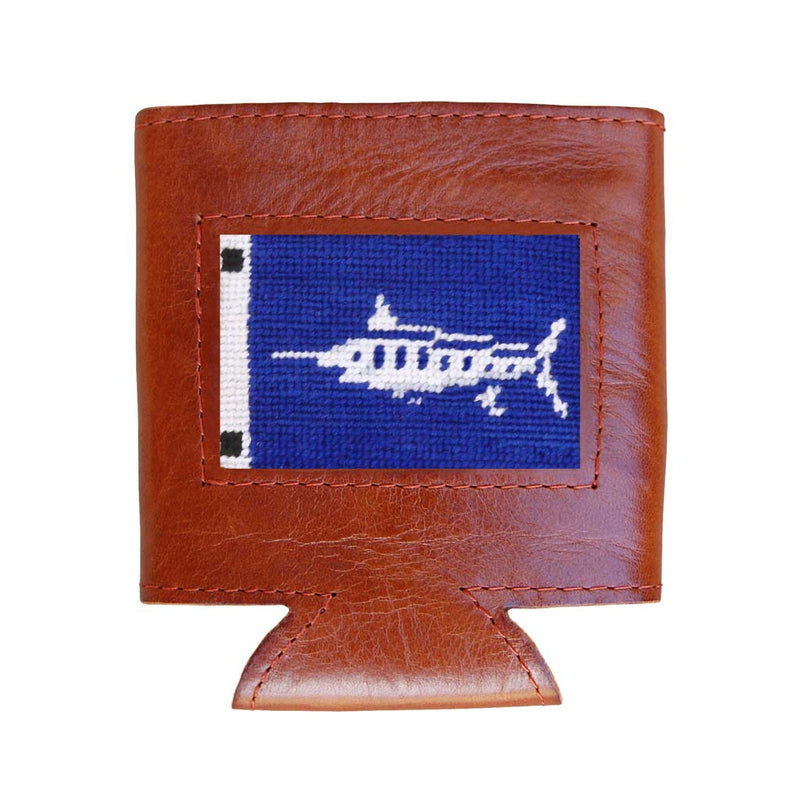 Marlin Sportfishing Flag Needlepoint Can Cooler by Smathers & Branson