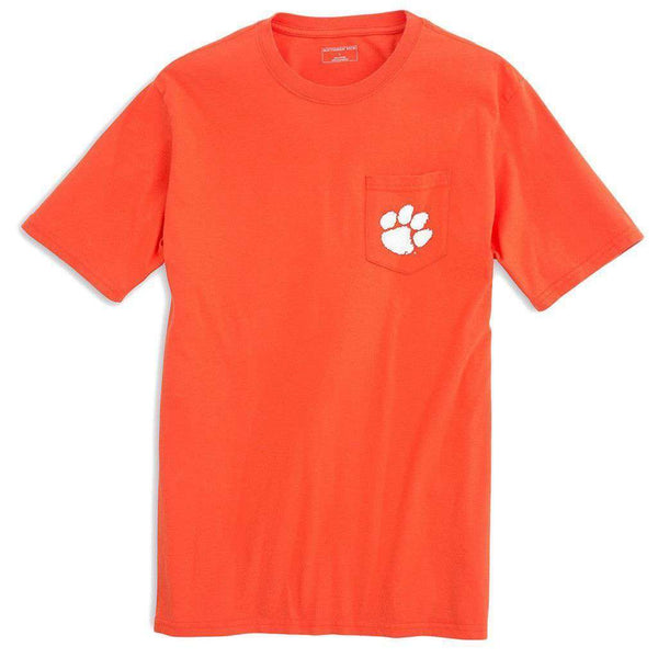 Clemson University Mascot Tee Shirt in Endzone Orange by Southern Tide  - 2