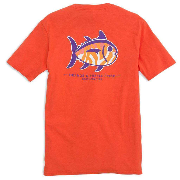 Clemson University Mascot Tee Shirt in Endzone Orange by Southern Tide  - 1