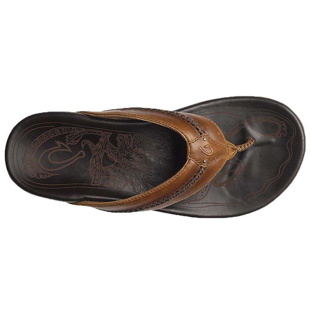 Men's Mea Ola Sandal in Tan & Dark Java by Olukai  - 2