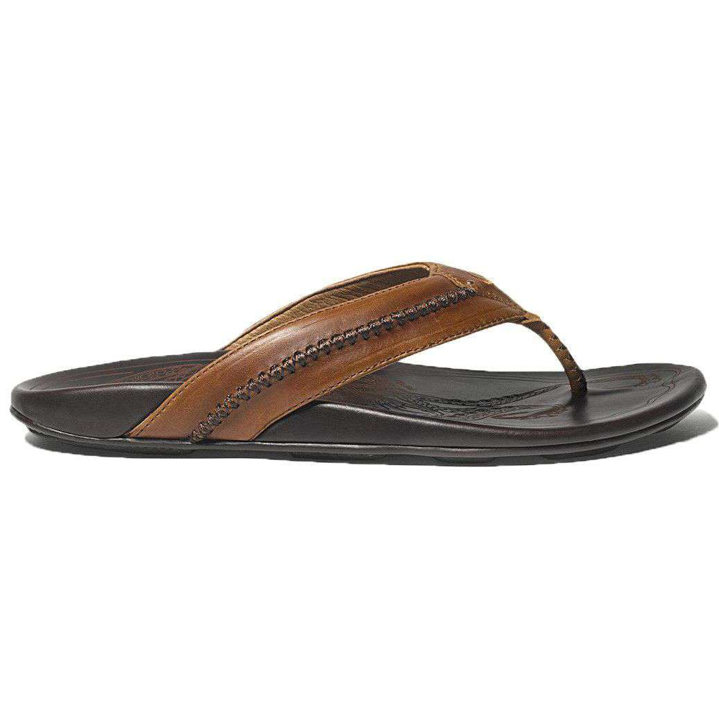 Men's Mea Ola Sandal in Tan & Dark Java by Olukai  - 1