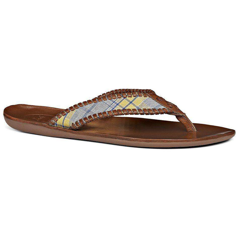 Men's Sullivan Sandal in Yellow Plaid by Jack Rogers