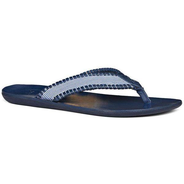 Men's Sullivan Seersucker Sandal in Navy by Jack Rogers