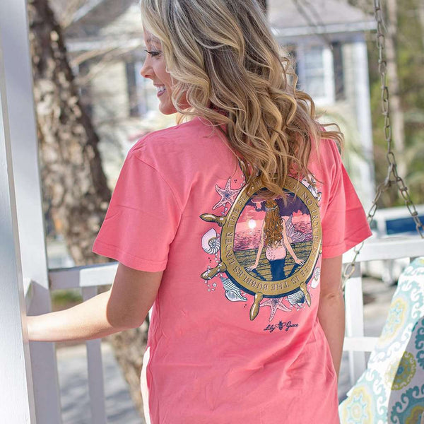 Mermaid Tee in Salmon by Lily Grace