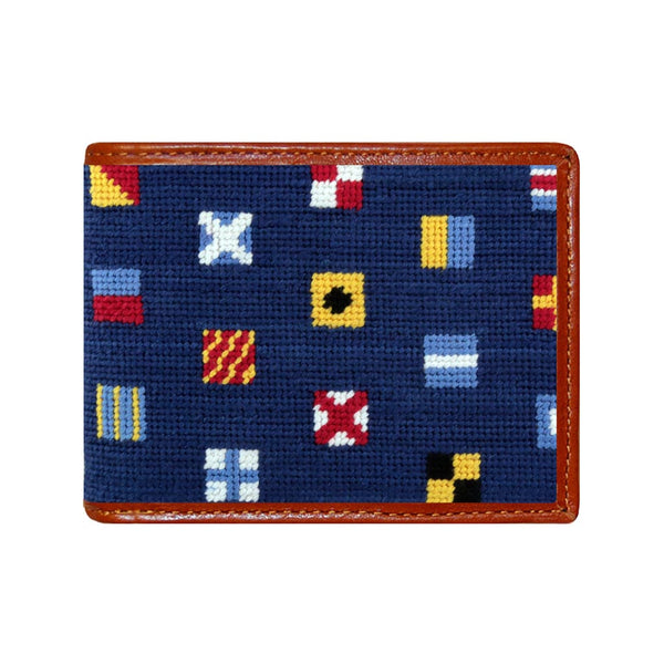 Mixed Signals Needlepoint Wallet by Smathers & Branson