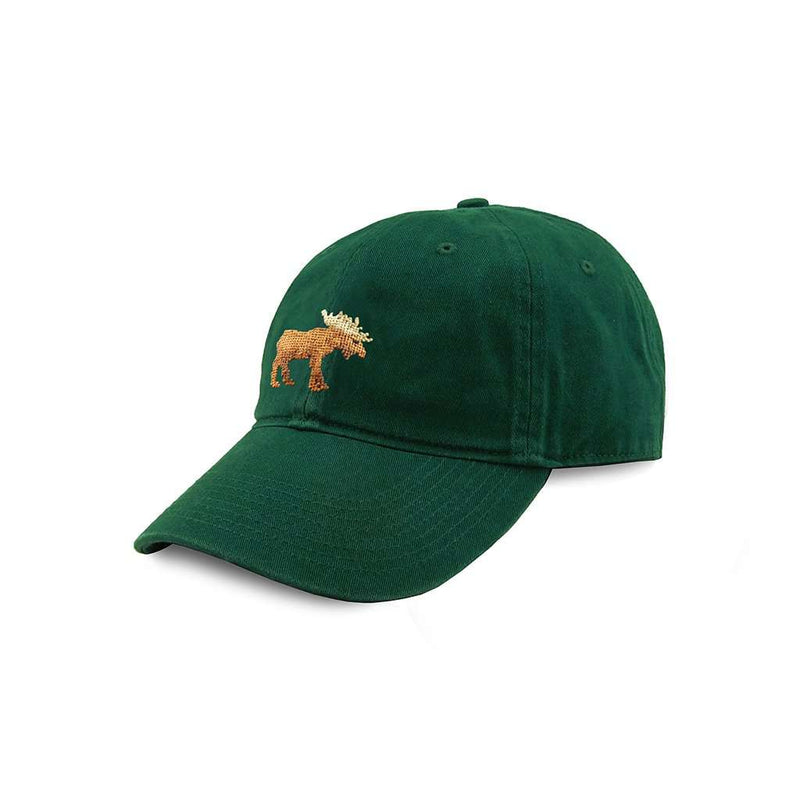 Moose Needlepoint Hat in Hunter by Smathers & Branson