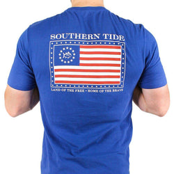 Mystery Independence T-Shirt in Blue Cove by Southern Tide  - 1