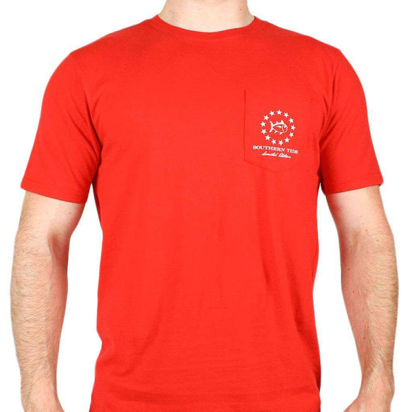 Mystery Independence T-Shirt in True Red by Southern Tide  - 2