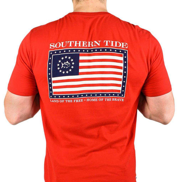 Mystery Independence T-Shirt in True Red by Southern Tide  - 1