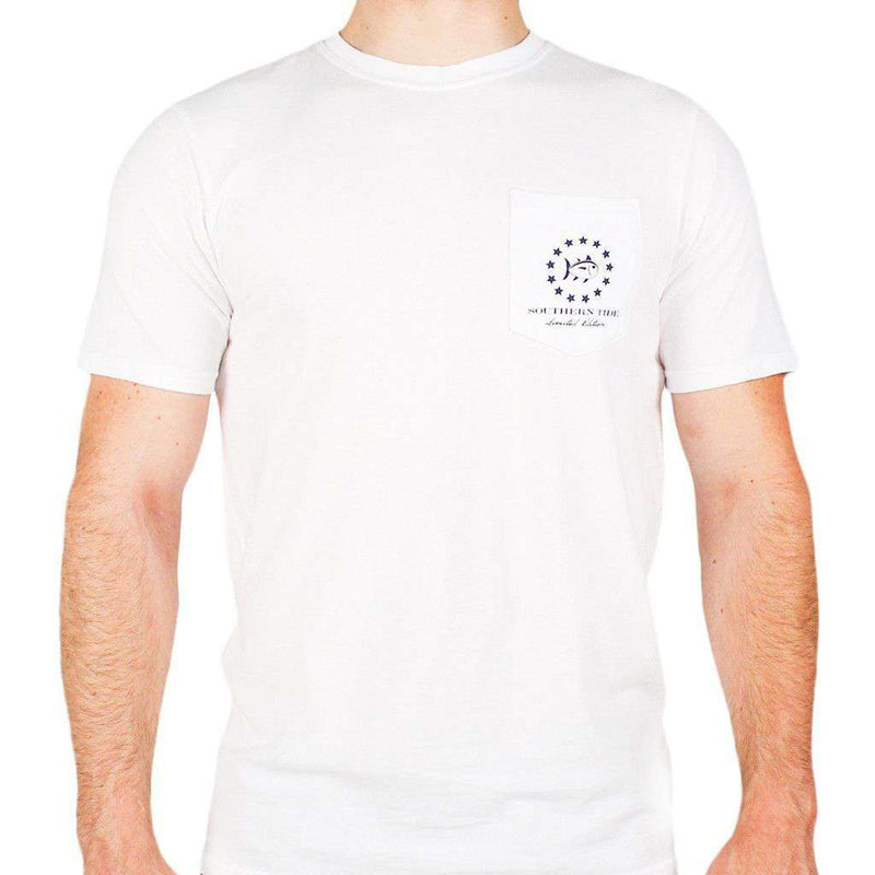 Mystery Independence T-Shirt in White by Southern Tide  - 2