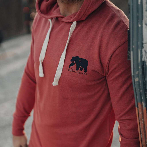 The Normal Brand Two-Toned Bear Hoodie by The Normal Brand