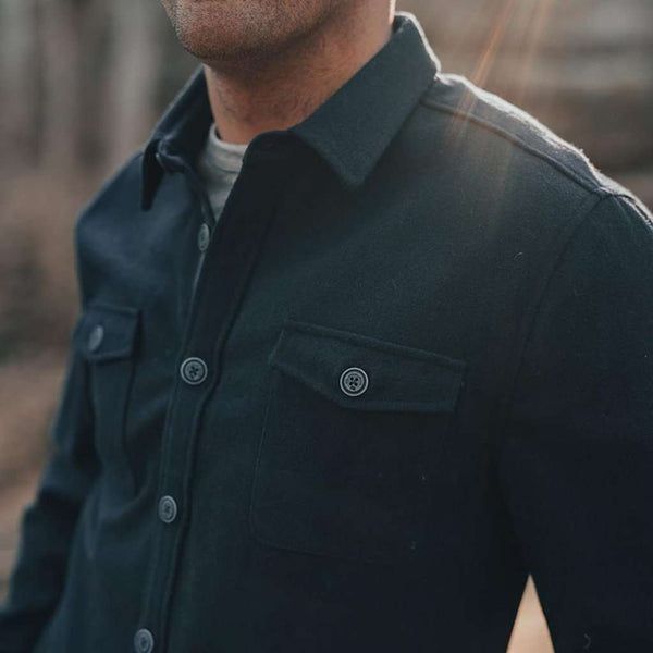 The Normal Brand Senior Wool Shirt Jacket by The Normal Brand