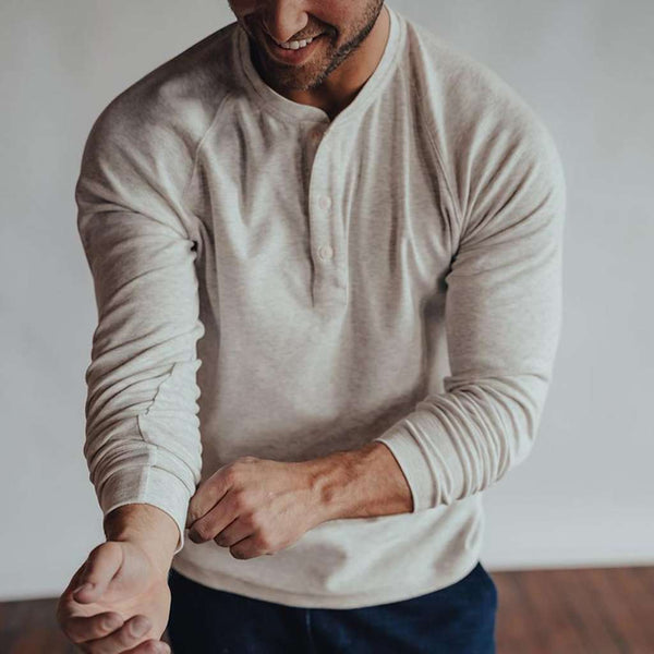 The Normal Brand Puremeso Raglan Henley by The Normal Brand