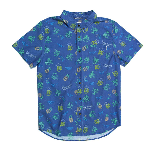 The Neon Short Sleeve Button Down Party Shirt by Party Pants