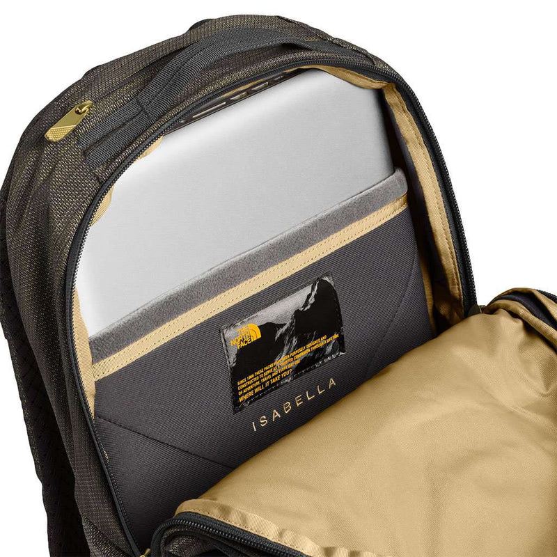 Women's Isabella Backpack in TNF Black Brass Melange by The North Face