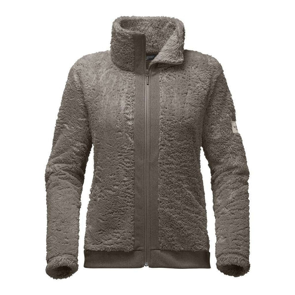 The North Face Women's Furry Fleece Full Zip Jacket in Weimaraner Brown