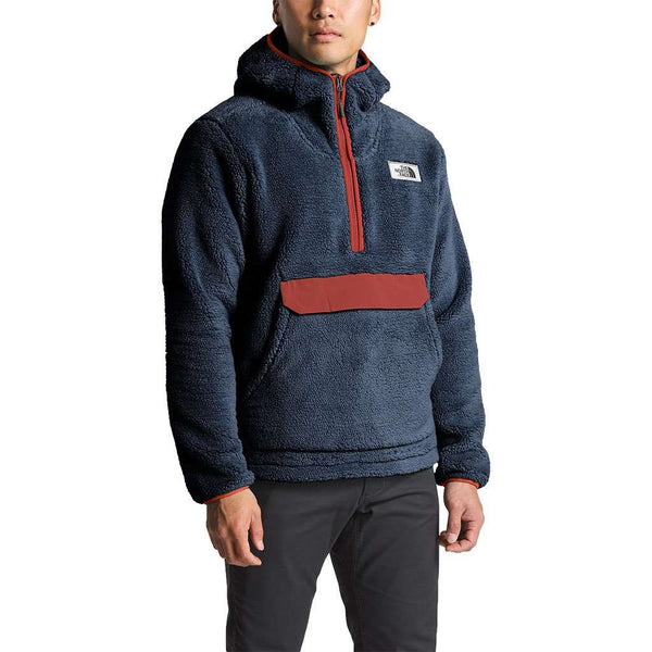Men's Campshire Pullover Hoodie in Urban Navy & Caldera Red by The North Face - FINAL SALE