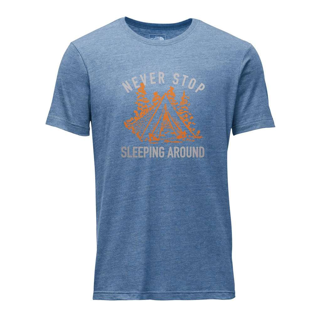 The North Face Men's Campin Tri-Blend Tee in Shady Blue Heather